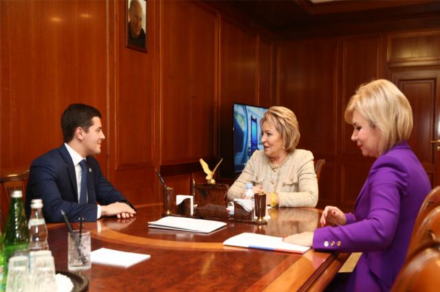 Губернатор Ямала встретился с главой Совета Федерации Валентиной Матвиенко