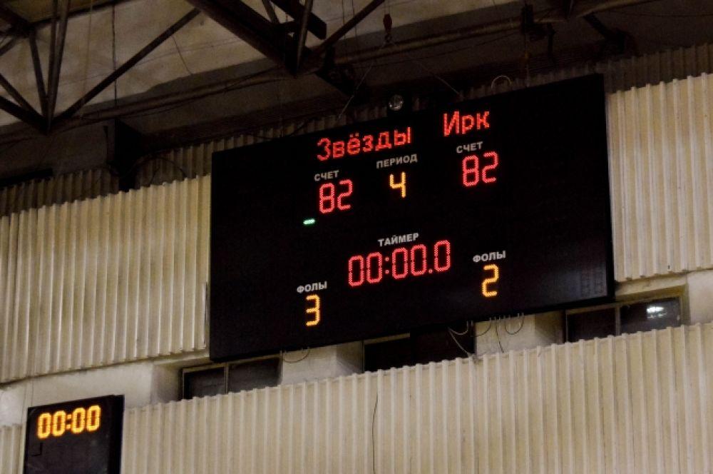 Однако матч сыграли в ничью – 82:82