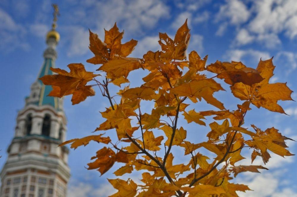 Осенний день в Омске.