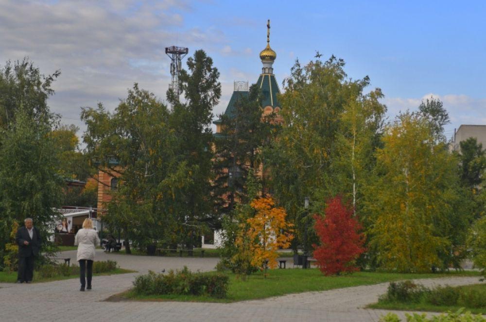 Сквер около Успенского собора.