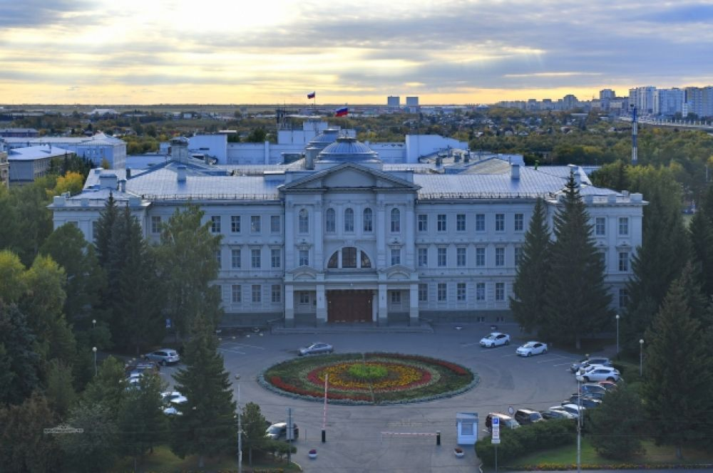 Здание Законодательного собрания Омска.