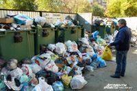 Двор на ул. Российской, 65, рядом с нашей редакцией. Скоро из-за мусора не будет видно самих контейнеров.