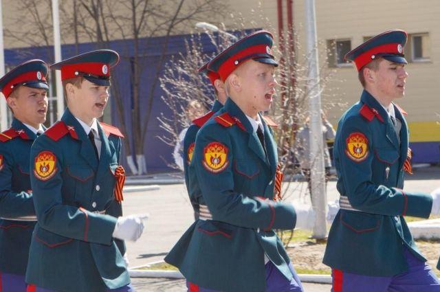 Юные казаки из Тюмени поборются за звание лучшего кадетского класса