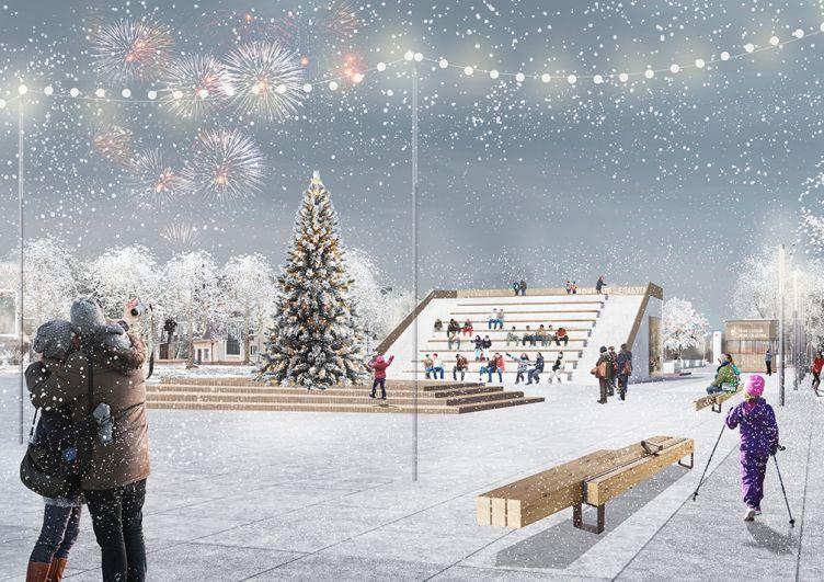 Реновация площади Ленина в Елабуге.