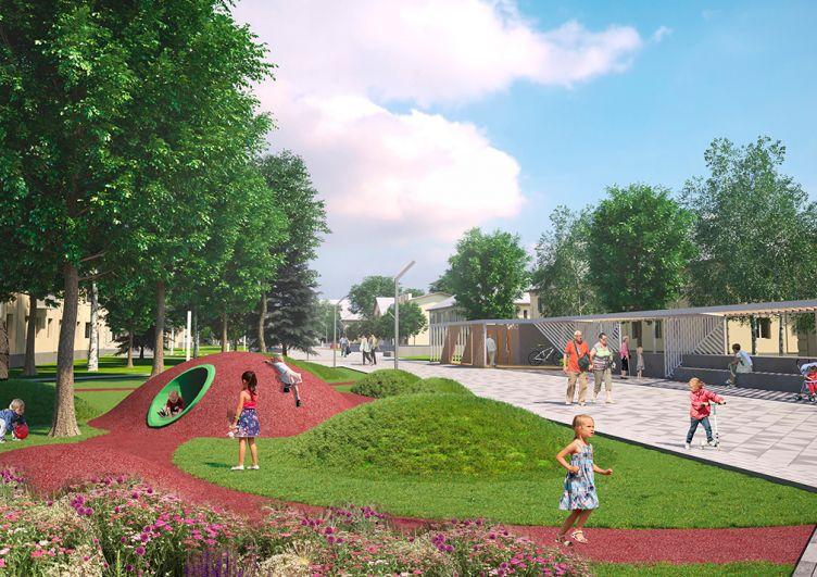 Концепция реновации центра Азнакаево.