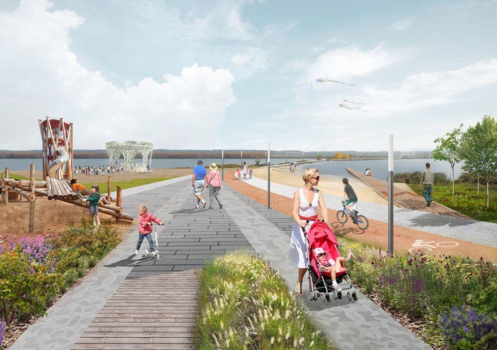 Так будет выглядеть набережная реки Мензеля в Мензелинске.