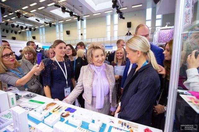 В работе форума приняла участие Валентина Матвиенко.