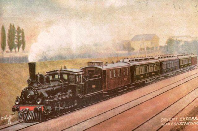 Открытка с изображением «Восточного экспресса», 1900 г.