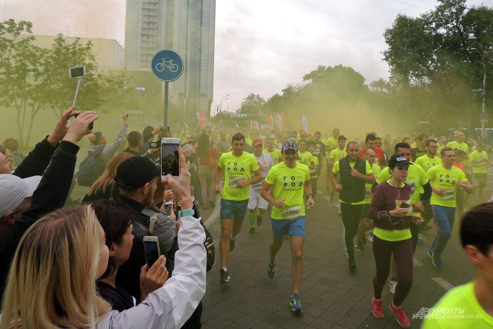 Старт легкоатлетического забега «Город 225».