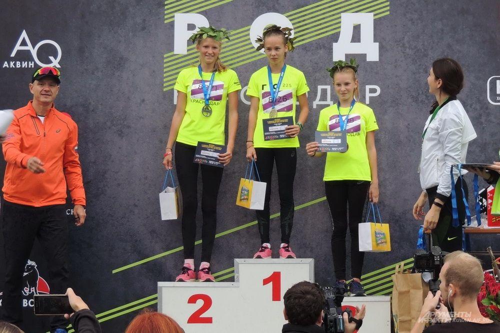 Три самые быстрые девушки.