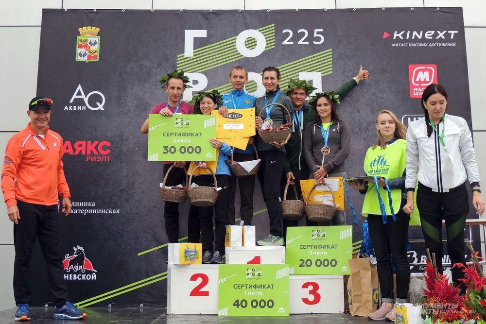 Победители эстафеты 2*5 км.
