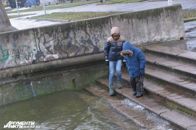В Калининграде из-за непогодны прогнозируют повышение уровня воды в Преголе.