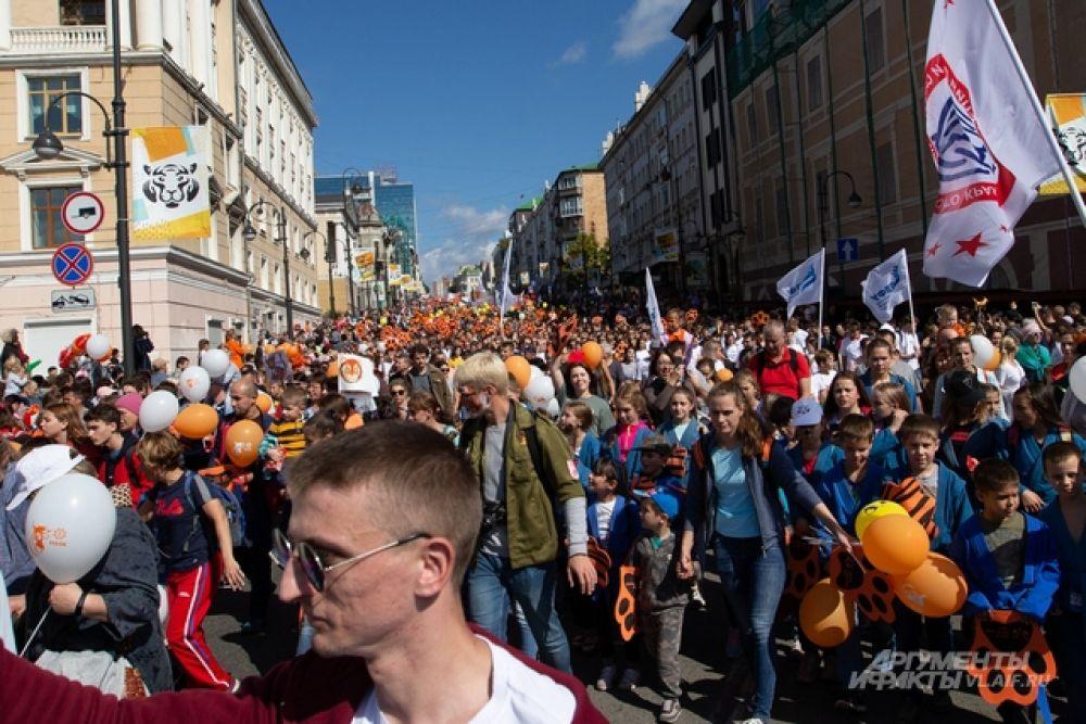 Казалось, весь краевой центр вышел на демонстрацию.