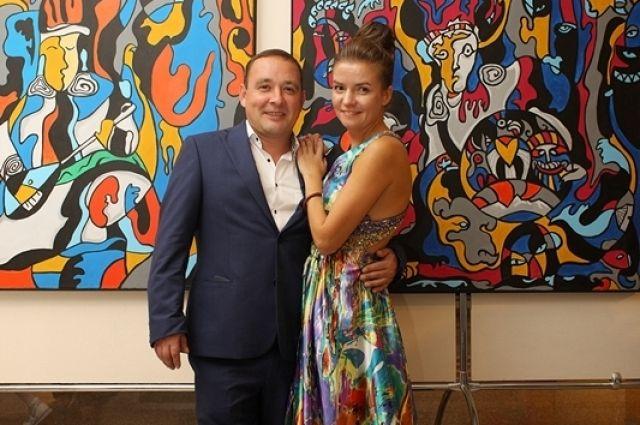 Ирина Кузнецова с супругом.