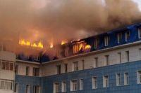 Больше восьми часов пожарные не могли справиться с огнем
