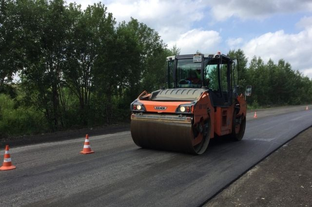 Строительство дорог и школ в НСО.