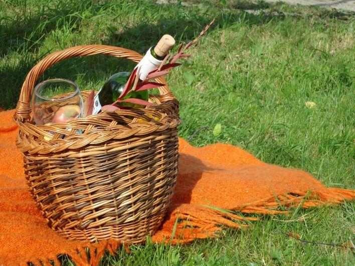 Пикник на природе - хорошая идея как для лета, так и для осени.