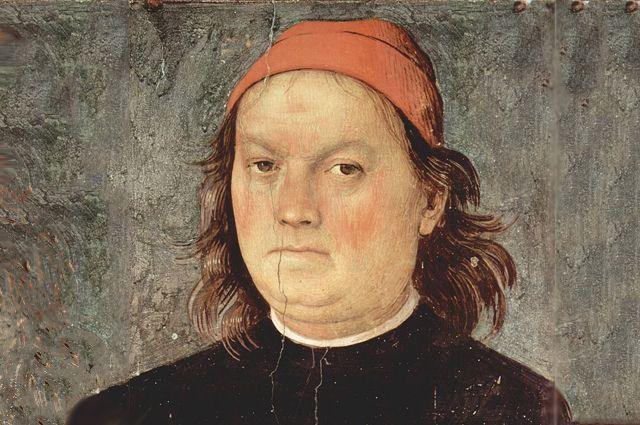 Пьетро Перуджино. Автопортрет, 1497—1500.