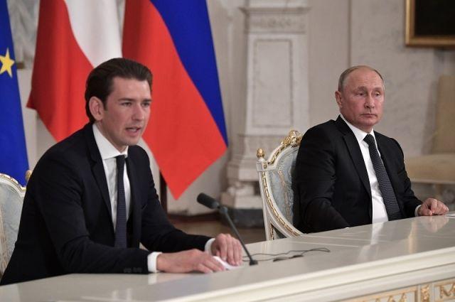 Себастьян Курц и Владимир Путин.
