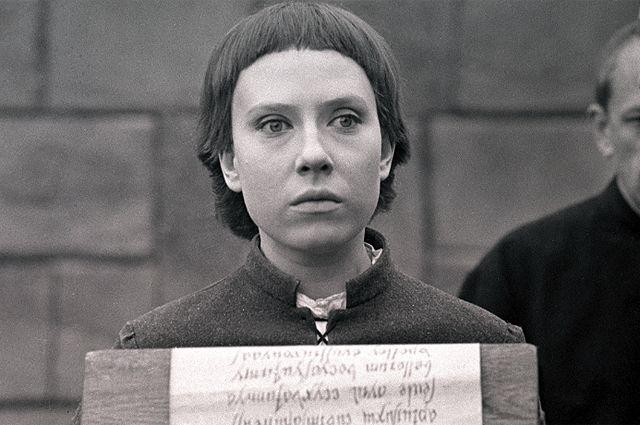 Инна Чурикова в роли Жанны д'Арк в фильме Глеба Панфилова «Начало», 1970 г.