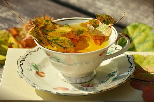 Осень - счастливое время уютных чаепитий.