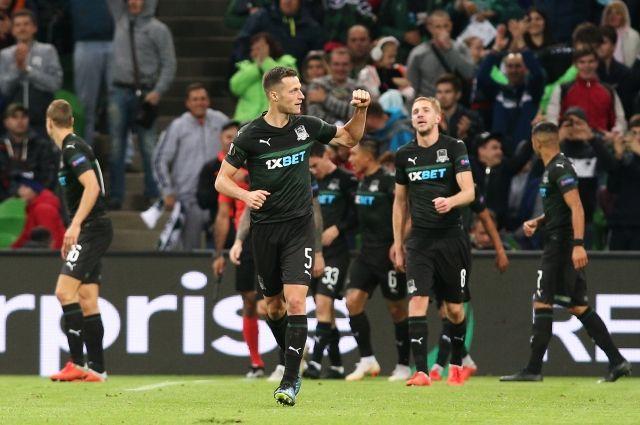 Грузинский футболист забил красивейший победный гол «ножницами» вЛиге Европы