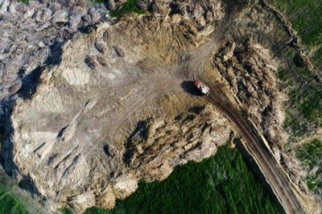 В 6 км от Канска обнаружена несанкционированная свалка древесных отходов