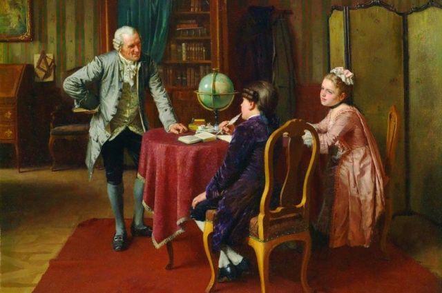 В наставники цасаревичей отбирали заметных представителей соответствующих наук.