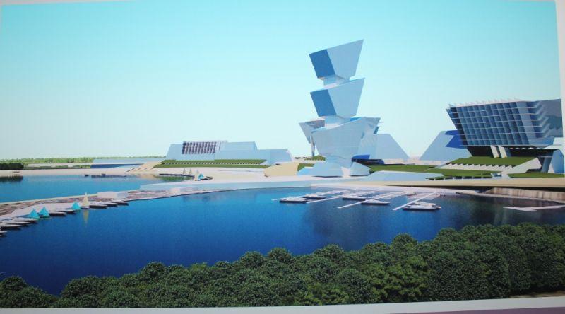 Таким проектировщику представляется обновлённая набережная вблизи Центрального стадиона.