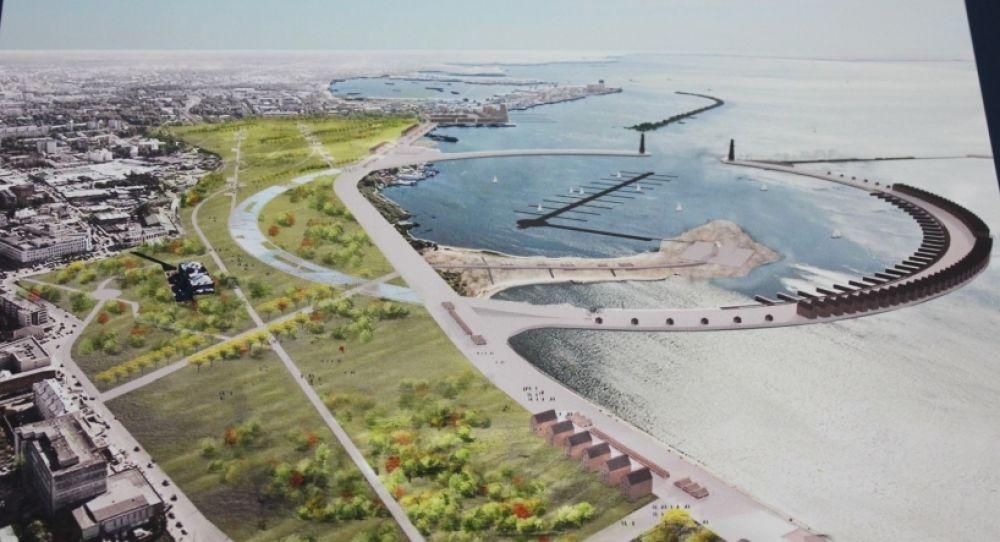 Архитекторы постарались закольцевать полуостров пешеходными дорожками.
