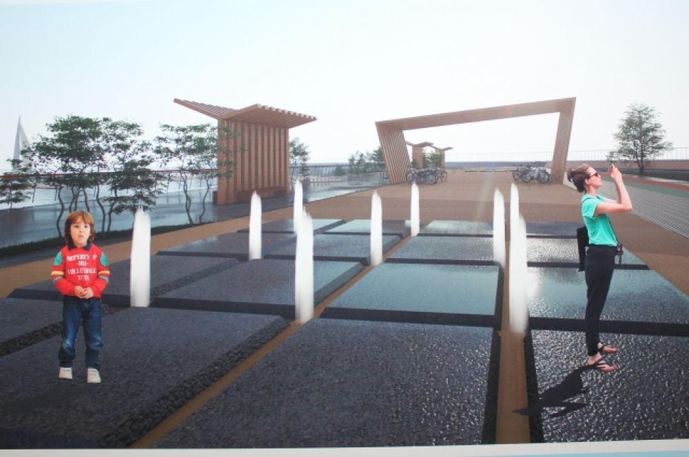 На новой набережной могут появиться поющие фонтаны, навесы и прокат велосипедов.