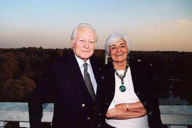 Морис Дрюон с супругой во время визита в Оренбург в 2003 году.