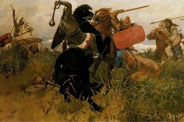 Бой славян со скифами. Картина Василия Васнецова