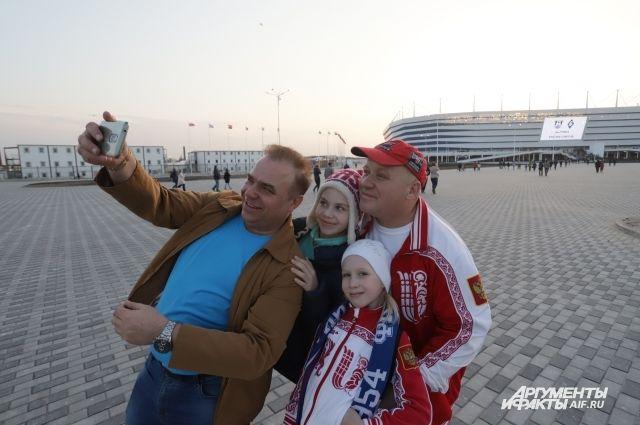 Для болельщиков матча между сборными РФ и Швеции подготовили шоу-программу.