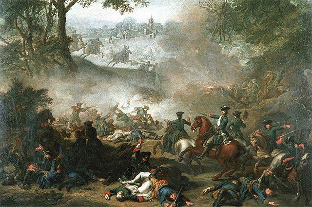 «Сражение при Лесной». Жан-Марк Наттье, 1717 г.
