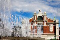 Фонтан в Первомайском сквере - самый возрастной в городе.
