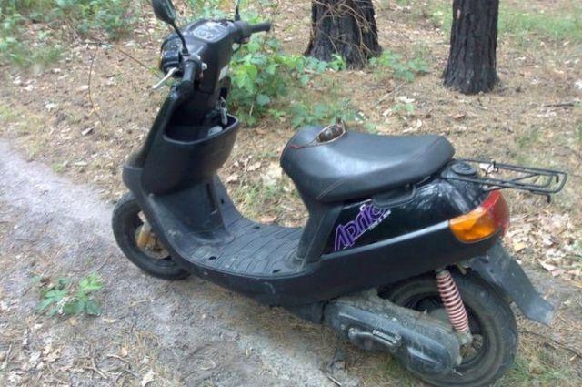 В Гурьевском районе пьяный водитель скутера без прав попал в ДТП.