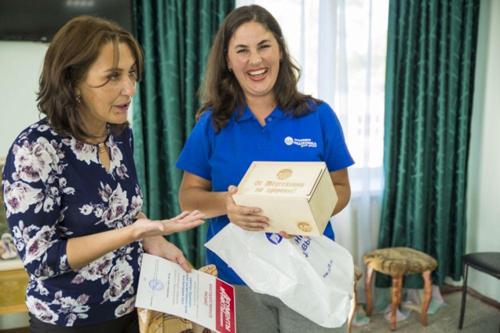 Персональный подарок вручили сотрудники сети магазинов «Медтехника для дома».