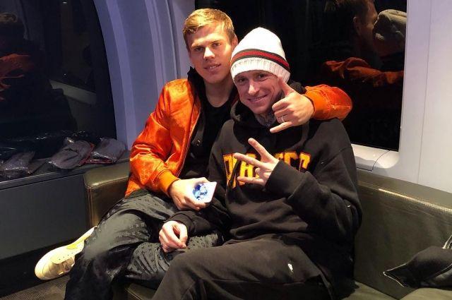 Кокорин вместе с Мамаевым за несколько часов до их загула в Москве