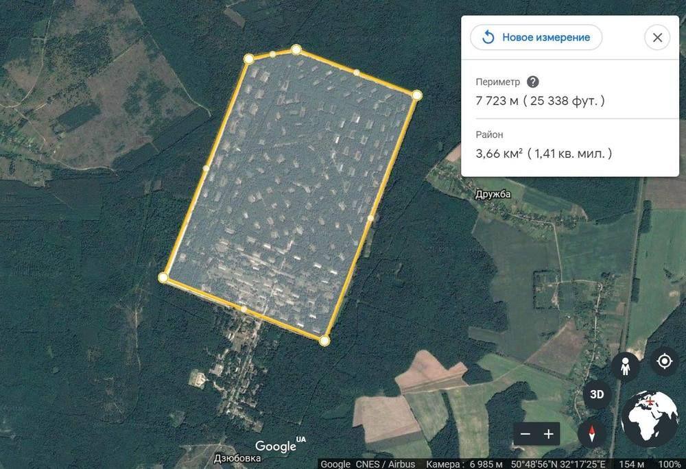 Как выглядит полигон и склад боеприпасов на карте Google.