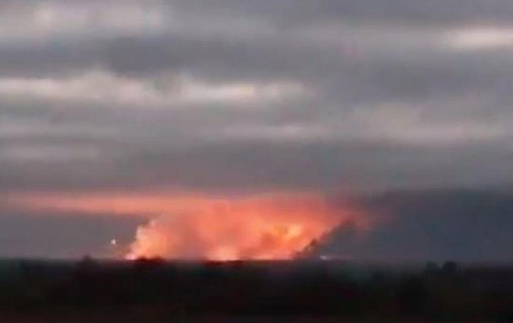 Вот так выглядел горизонт в Ичне около семи часов утра, 9 октября.