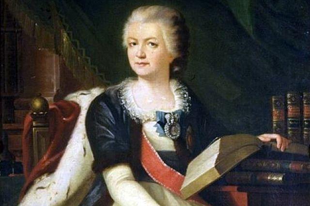 Парадный портрет Екатерины Воронцовой-Дашковой. Фрагмент. 1790-е гг.