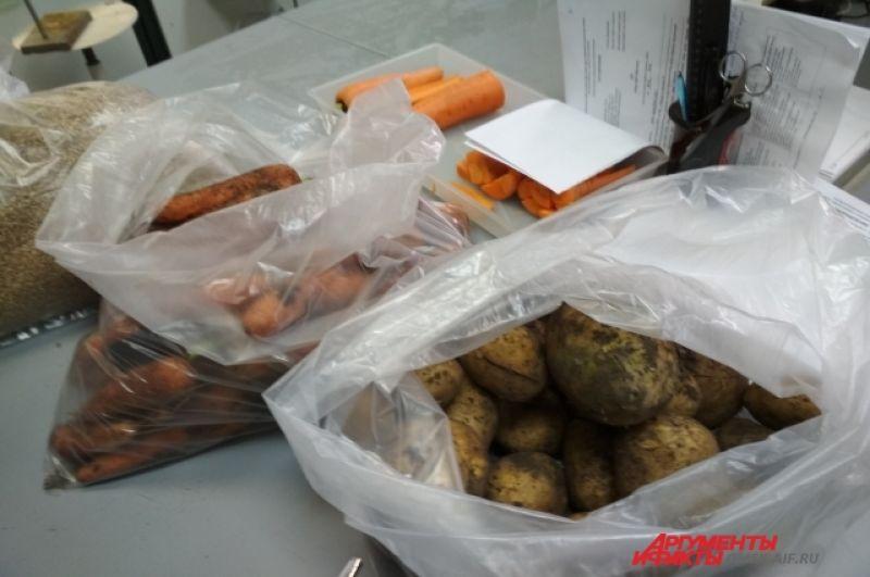 Чтобы данные были верными, необходимо взять не менее трёх килограммов овощей.