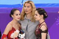Алина Загитова, Этери Тутберидзе и Евгения Медведева.