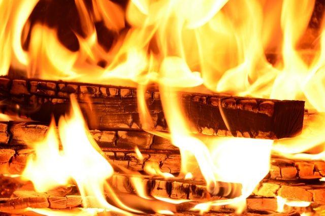 В Омской области пожарные спасли человека из огня