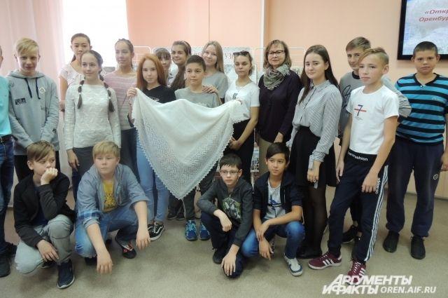 Дети и подростки узнали как зарождалось пуховязание в регионе