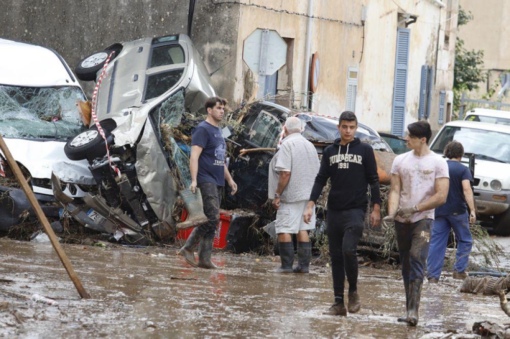 Затопленные улицы в Сан-Лоренсо.
