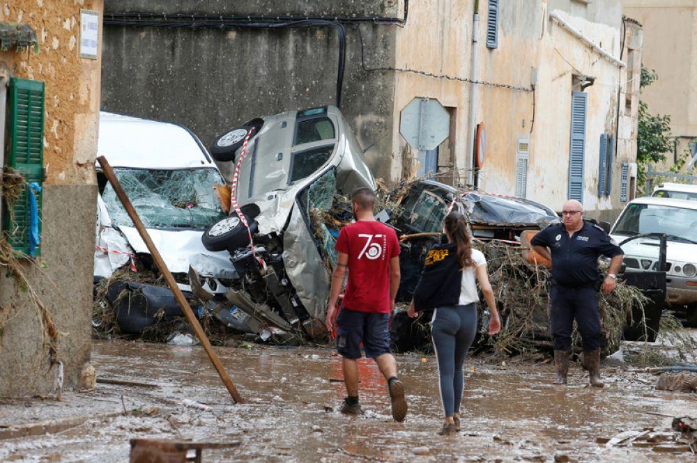 Затопленные улицы в муниципалитете Сан-Лоренсо.