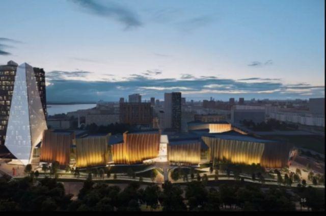 Проект нового многофункционального центра в Перми.