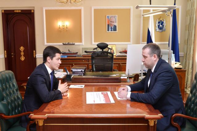 Дмитрий Артюхов провел встречу с главой Губкинского Андреем Гараниным